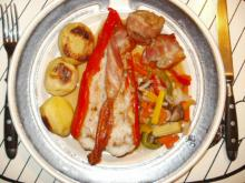 Snackpeber med fiskefyld