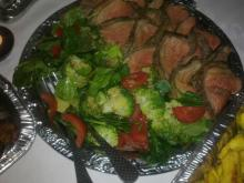 Culotte med hvidløg & spinat-brocollisalat