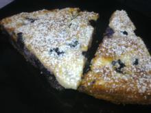 Cheesecake m/ rugbrødsbund, blåbær & banan
