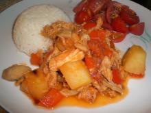 Kylling i sur/sød-sauce