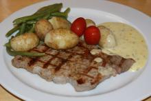 Entrecôte bearnaise med kartofler
