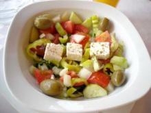 Græsk salat med krydderfeta