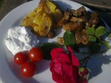 Grill-bøffer m/ frisk rosmarin & stegt svampe-ragout