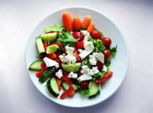 Grøn salat med feta