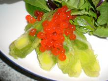 Porreterrin m. rød caviar