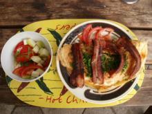 Omlet m. champignon fyld