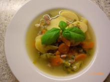 Suppe m. kartofler og bacon