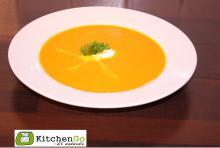 Hokkaidosuppe med brieost chili og hvidvin