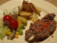 Lækker græsk farsbrød med tilbehør