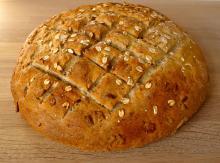 Lækkert brød med havregryn og kerner