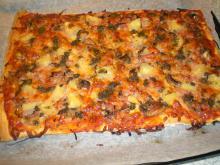 Pizza m. pesto-olie.