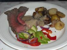 Roastbeef tilberedt i gryde