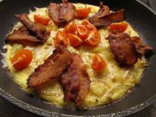 Æggekage med fyld