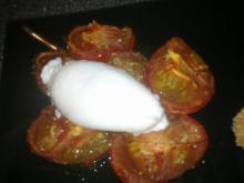 Pocheret æg m/ bagte tomater