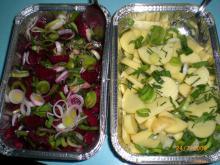 Bagte rødbeder og kartofler
