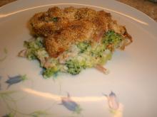 Broccoligratin m. skinkestrimler