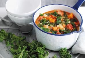 Opskrift på grønkål, chorizo og ris gryderet