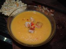Græskarsuppe med kokosmælk, karry og chili (dejlig og varmende)