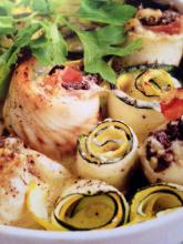 Fyldte fisk- og grøntsagsruller