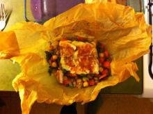 Fiskepakker med kikærter