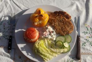 Fyldt Paprika m. ris og fisk