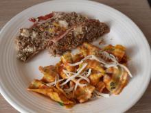 Græsk farsbrød med basilikum, timian, feta og mozzarela