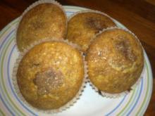 Hurtige banan-muffins m/chokolade