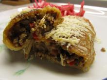 Fyldte pandekager m. oksekød og grøntsager