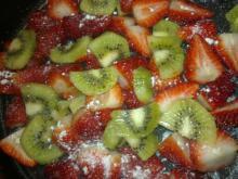 Smuldretærte m/ jordbær & kiwi