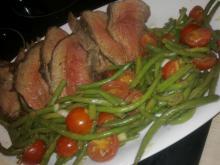 Kalveculotte m/ grøn bønnesalat