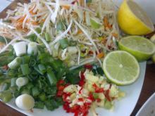 Kylling, grøntsager & nudler i wok (thai)