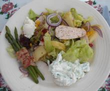 Lækker salat med kylling