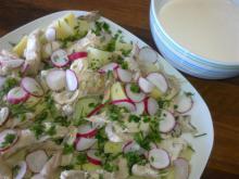 Makrel-kartoffelsalat med peberrodscreme