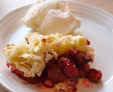 Let og lækkert – Hindbær med marcipan