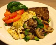 Omelet med champignon og andre lækkerier