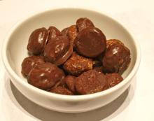 Pebernødder med chokolade – restemad