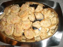 Butterdej snack med rejer og flødeost