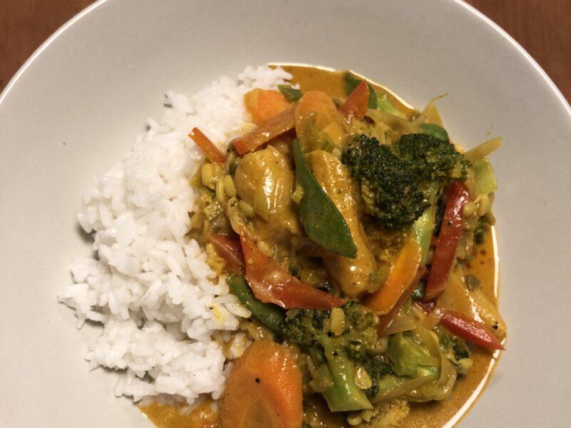 Grøntsagswok med ris